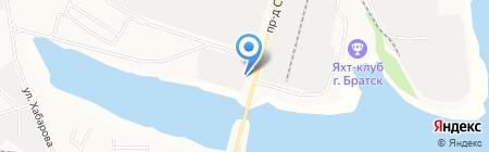 Магазин автотоваров на карте Братска