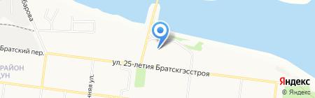 Сантех-монтаж на карте Братска