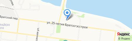 Любимая на карте Братска