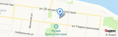 Магазин детских товаров на карте Братска
