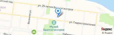 Магазин дисков на карте Братска