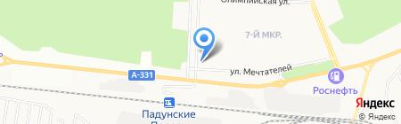 Горизонт на карте Братска