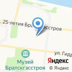 Мировые судьи Падунского округа г. Братска на карте Братска