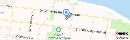 Аппарат мировых судей на карте Братска