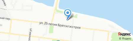 Технопарк на карте Братска