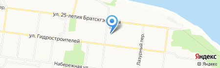 Братский областной кожно-венерологический диспансер на карте Братска