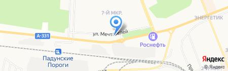Огнетушитель на карте Братска