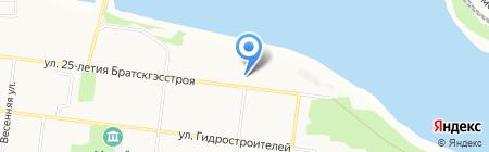 Падунский отдел судебных приставов г. Братска на карте Братска