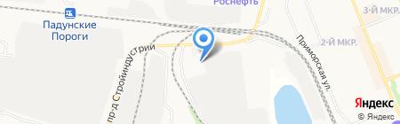 Элегант-Падун на карте Братска