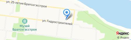 Открытая (сменная) общеобразовательная школа №2 на карте Братска