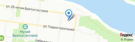 Пингвин хоккейный корт на карте Братска