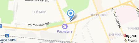 ТЭЦ-7 на карте Братска
