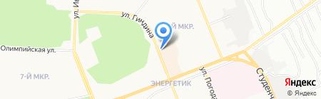 Магазин разливного пива на ул. Гиндина на карте Братска