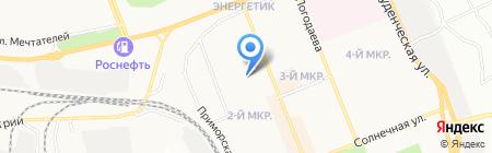 Средняя общеобразовательная школа №26 на карте Братска