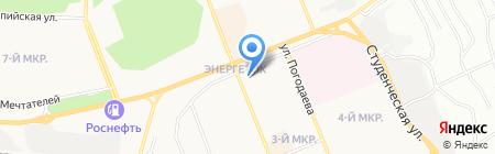 Банкомат АКБ РОСБАНК на карте Братска
