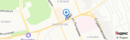 Ёрш на карте Братска