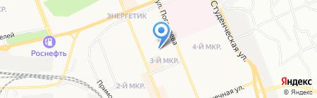Детский сад №101 Солнышко на карте Братска
