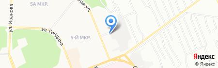 Смешанный на карте Братска