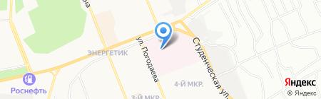 Сеть аптечных пунктов на карте Братска