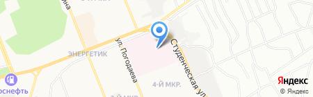 Иркутский областной онкологический диспансер на карте Братска