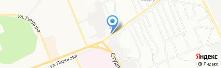 Восток на карте Братска