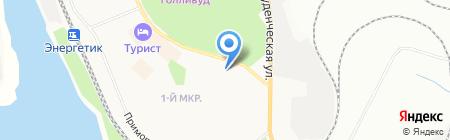 Байкал на карте Братска