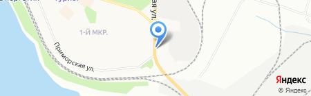 Аверс на карте Братска