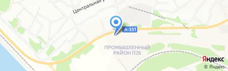 АЗС на Бетонной на карте Братска