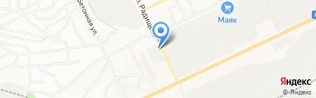 Авангард на карте Братска