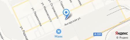 Андраник на карте Братска