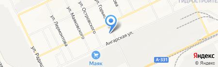 Привоз на карте Братска