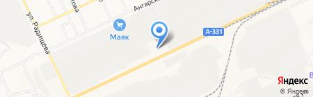 АЗС на карте Братска