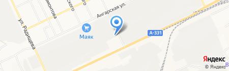 Транзит на карте Братска