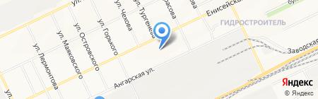 Средняя общеобразовательная школа №15 на карте Братска