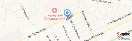 Магазин разливного пива на ул. Гайнулина на карте Братска
