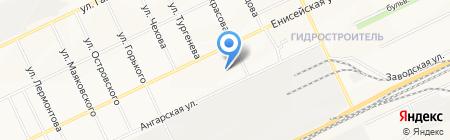 Скорая медицинская помощь на карте Братска