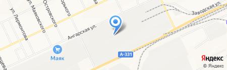 Сиблеспром на карте Братска