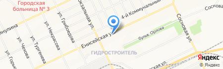 На остановке на карте Братска