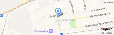 Транспортный строитель на карте Братска