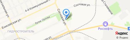 Пражечка на карте Братска