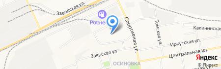 Детский сад №98 Ромашка на карте Братска