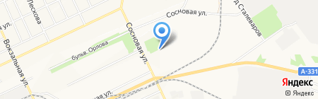 Отдел по работе с населением Комитета по управлению Правобережным округом на карте Братска