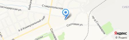 Братский областной психоневрологический диспансер на карте Братска