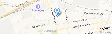 Локомотив на карте Братска