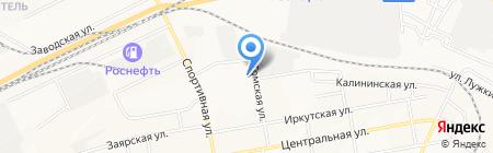 Средняя общеобразовательная школа №43 на карте Братска