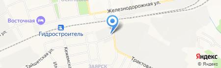 Магазин бытовой химии и хозтоваров на Тайшетской на карте Братска