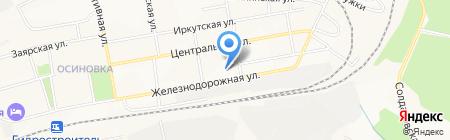 Смоленский на карте Братска