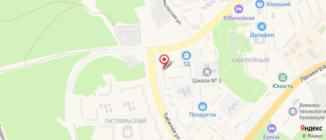 Карта расположения пункта доставки Ростелеком в городе Саянск