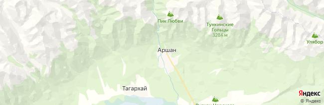 Аршан на карте