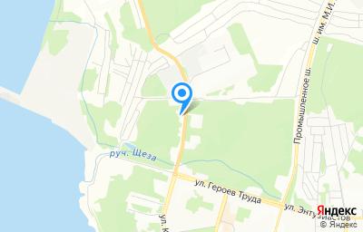Местоположение на карте пункта техосмотра по адресу Иркутская обл, г Усть-Илимск, ш Усть-Илимское, д 1Б
